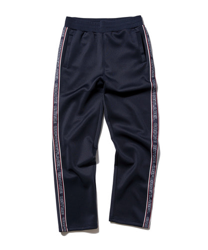 JERSEY RUSSELL LOGO TAPE SET TRAINING PANTS (NAVY) [GTP003G33NA]