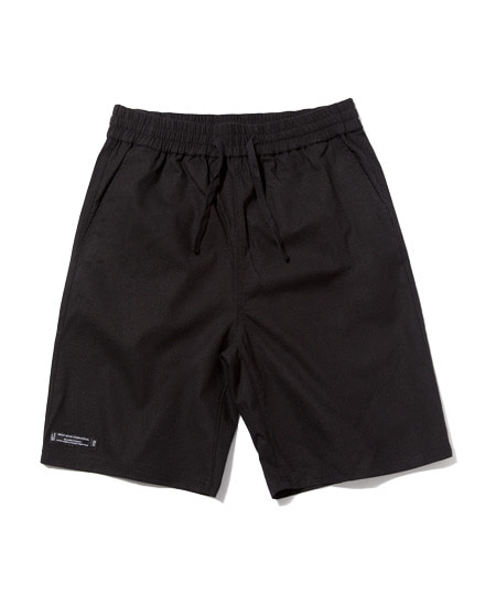 E-BAND BASIC LINEN HALF PANTS (BLACK) [GSP002H23BK]