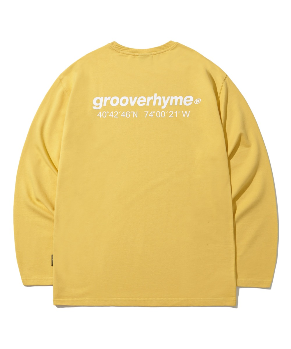 NYC LOCATION LONG SLEEVE T-SHIRTS (YELLOW) [LROFCTR721MYEA]