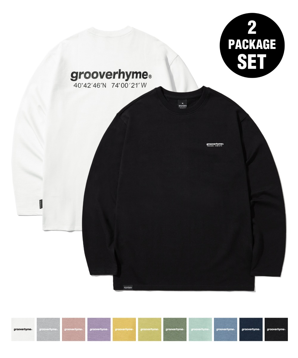 1+1 NYC LOCATION LONG SLEEVE T-SHIRTS (11COLOR) [LROFCTR721M]